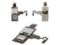 Коннектор SIM-карты для мобильного телефона HTC T328e Desire X, с коннектором карты памяти, с кнопкой включения, со шлейфом