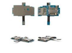 Коннектор SIM-карты для мобильного телефона Samsung I9003 Galaxy SL, с коннектором карты памяти, со шлейфом