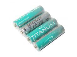 Батарейка AA (R6), солевая, Titanum, 4 шт, 1.5V, Blister