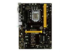 Мат.плата 1151 (B250) Biostar TB250-BTC+, B250, 2xDDR4, Int.Video(CPU), 6xSATA3, 1xPCI-E 16x 3.0, 7xPCI-E 1x 3.0, ALC887, RTL8111H, 5xUSB3.0/6xUSB2.0, DVI-D, ATX