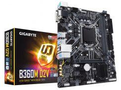 Мат.плата 1151 (B360) Gigabyte B360M D2V, B360, 2xDDR4, Int.Video(CPU), 6xSATA3, 1xM.2, 1xPCI-E 16x 3.0, 2xPCI-E 1x 3.0, ALC887, RTL8111H, 6xUSB3.1/6xUSB2.0, VGA/DVI-D, mATX