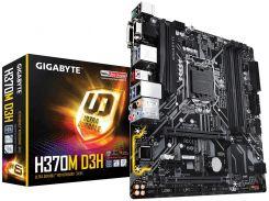 Мат.плата 1151 (H370) Gigabyte H370M D3H, H370, 4xDDR4, CrossFire, Int.Video(CPU), 6xSATA3, 2xM.2, 2xPCI-E 16x 3.0, 1xPCI-E 1x 3.0, 1xM.2 (Key E), ALC892, I219-V, 8xUSB3.1/6xUSB2.0, VGA/DVI-D/HDMI, RA