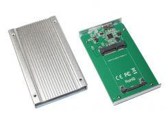 """Док-станция 1,8"""" Maiwo K18S для 1,8"""" mSATA SSD через USB3.0 на винтах алюм. серебр."""