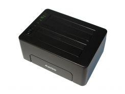"""Док-станция 2,5""""/3,5"""" Maiwo K3082 для 2*HDD 2,5""""/3,5"""" SATA/SSD через USB3.0 безвинтов. крепл."""