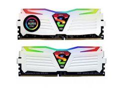 Модуль памяти для компьютера DDR4 16GB (2x8GB) 2400 MHz Super Luce White RGB Sync LED GEIL (GLWS416GB2400C16DC)
