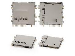 Коннектор карты памяти для планшетов Samsung P5200 Galaxy Tab3, P5210 Galaxy Tab3, T110 Galaxy Tab 3 Lite 7.0, T310 Galaxy Tab 3 8.0, T311 Galaxy Tab 3 8.0 3G, T330 Galaxy Tab 4 8.0, T530 Galaxy Tab 4