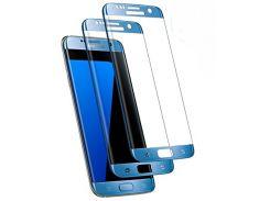 Стекло экрана Samsung G930F Galaxy S7 синее оригинал