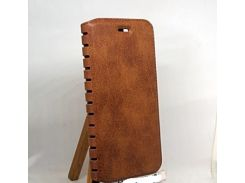 Книжка Leather folio Huawei Y6 2018 коричневая