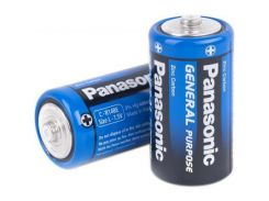 Батарейка PANASONIC C (R14) GENERAL PURPOSE TRAY ZINK-CARBON * 2 (R14BER/2P)