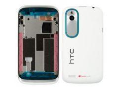 Корпус для мобильного телефона HTC T328w Desire V, белый, с синей накладкой