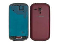 Корпус для мобильного телефона Samsung I8190 Galaxy S3 mini, бордовый