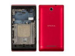 Корпус для мобильных телефонов Sony C1503 Xperia E, C1504 Xperia E, C1505 Xperia E, красный