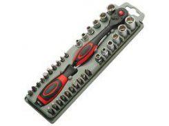 Набор битодержатель Pro'sKit SD-2307M с трещеточным механизмом с битами
