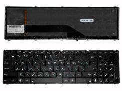 Клавиатура для ноутбука ASUS (K50, K51, K60, K61, K70, F52, P50, X5), rus, black, подсветка клавиш