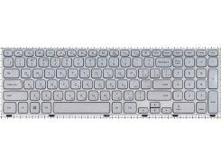 Клавиатура для ноутбука DELL (Inspiron: 7737) rus, silver, подсветка клавиш