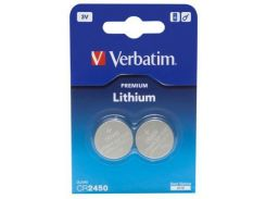 Батарейка Verbatim CR 2450 Lithium 3V * 2 (49938)