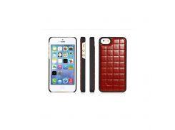 Чехол Xoomz для iPhone 5/5S/5SE PU Grid Brown (back cover)