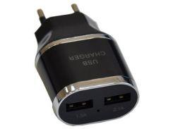 Зарядное устройство Atcom ES-D03 (1*USB, 1A & 1*USB, 2.1A) (7016)