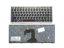 Клавиатура для ноутбука LENOVO (S300, S400, S405) rus, black, silver frame