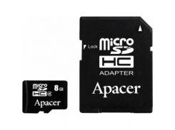 Карта памяти Apacer 8GB microSDHC Class4 w/ 1 Adapter RP (AP8GMCSH4-R)