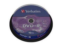 Диск DVD Verbatim 4.7Gb 16X CakeBox 10шт Silver (43498)