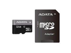 Карта памяти ADATA 32Gb microSDHC Ultra UHS-I +SD адаптер Class 10 (AUSDH32GUICL10-RA1)