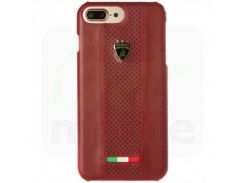 Чехол Lamborghini Estoque-D2 Leather Back Cover Red для iPhone 7 Plus/8 Plus