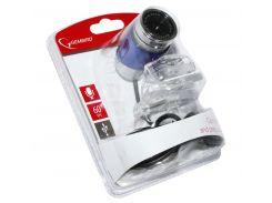 Web камера Gembird CAM100U-B Silver/Blue, 0.3 Mpx, 640x480, USB 2.0, встроенный микрофон