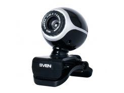 Web камера Sven IC-300WEB Black, 1.3 Mpx, 640x480, USB 2.0, встроенный микрофон