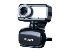 Web камера Sven IC-320WEB Black, 1.3 Mpx, 640x480, USB 2.0, встроенный микрофон