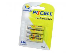 Аккумулятор AAA, 1200 mAh, PKCELL, 4 шт, 1.2V, Blister (545329)