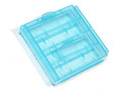 Кейс пластиковый, универсальный, для элементов AA (4-ех шт), Blue