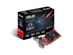 Видеокарта Radeon R7 240 OC, Asus, 4Gb DDR3, 128-bit, VGA/DVI/HDMI, 820/1800MHz (R7240-OC-4GD3-L)