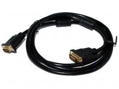 Кабель DVI - 1.8м DVI-I - VGA Black