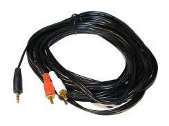 Кабель Audio DC3.5>2RCA mini-jack(M)> 2тюльпана (M) 7.5m PE