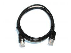 Патч-корд 1 м, UTP, Black, Cablexpert, литой, RJ45, кат.5е (PP12-1M/BK)