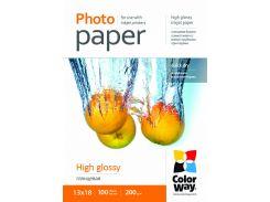 Фотобумага ColorWay, глянцевая, 13х18, 200 г/м2, 100 л (PG2001005R)