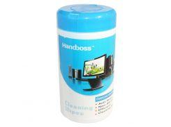 Салфетки чистящие Handboss, для оргтехники, туба, 88 шт