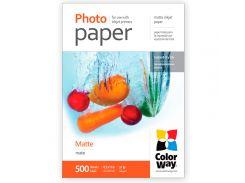 Фотобумага ColorWay, матовая, Letter (LT), 108 г/м2, 500 л (PM108500LT)