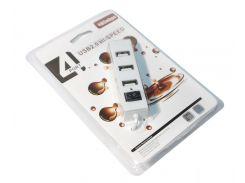 Концентратор USB 2.0, 4 ports, White, 480 Mbps (05510)