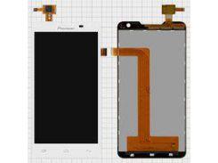 Дисплей для мобильного телефона Pioneer S90W, белый, с сенсорным экраном, (обязательно читать полезные советы)