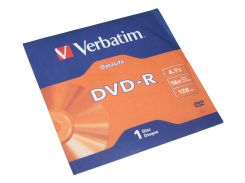 Диск DVD-R Verbatim, 4.7Gb, 16x, Data Life Jacket (43844)