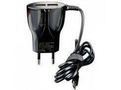 Зарядное устройство Gelius Ultra Edition 2*USB + cable Type-C 2,1A Black (62258)