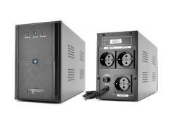 ИБП Ritar E-RTM1200 (E-RTM1200L) ELF-L Black, 1200VA, 720W, AVR, 3 розетки (Schuko), батарея 12В/7Ач x 2 шт, пластиковый корпус
