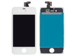Дисплей iPhone 4S, белый, с сенсорным экраном, с рамкой, High Copy