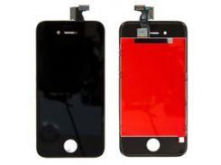 Дисплей iPhone 4S, черный, с сенсорным экраном, с рамкой, High Copy