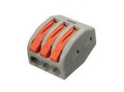 Прямой 3-контактный коннектор для соединения проводов 250 В 30 А