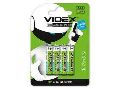 Батарейка AAA (LR03), щелочная, Videx Excellent!, 4 шт, 1.5V, Blister (LR03/AAA 4pcs BLISTER CARD)