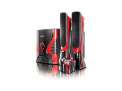 Колонки 2.1 Gemix SB-75 Black/Red, сателлиты 2 x 15 Вт, сабвуфер 30 Вт, МДФ/ пластик, питание от сети 220V, проводной пульт управления