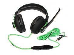 Гарнитура Maxxter Sonar H2 Black, 2 x Mini jack (3.5 мм), накладные, регулятор громкости, кабель 2.4 м